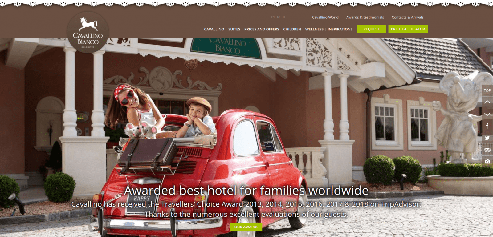 TOP 25 Hotels Websites for Families in the World
