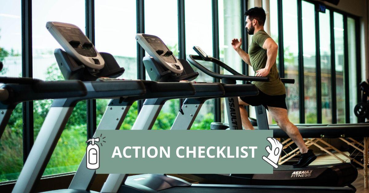 Fitness GYM safety Protocols Checklist App