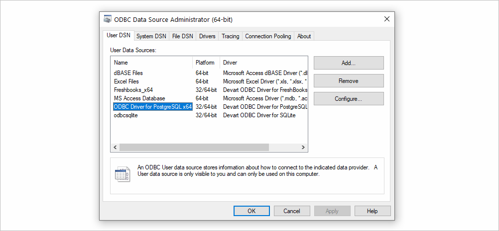 Installing and Configuring an ODBC Driver