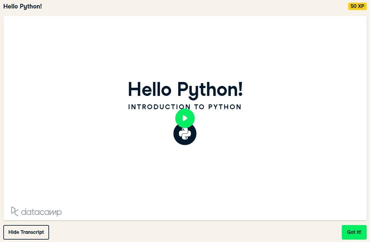 Hello Python!