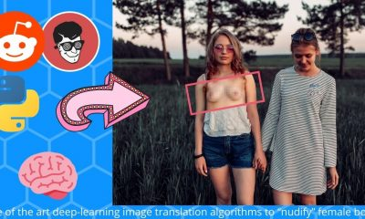 state of the art deep-learning image translation algorithms to nudify female bodies
